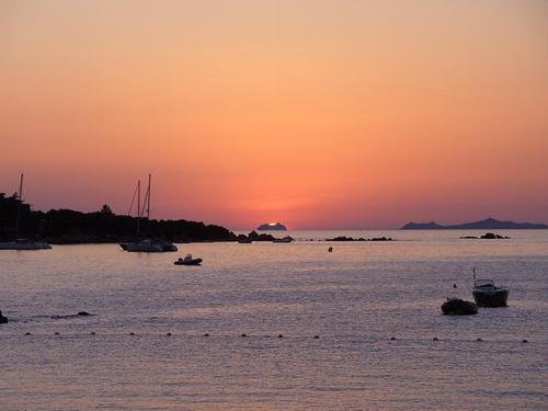 Coucher de soleil à Ajaccio