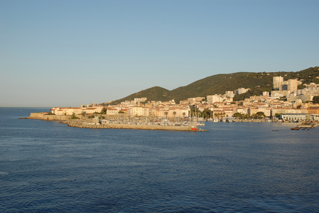 Vue d'Ajaccio en Corse