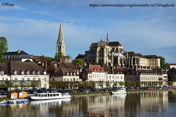 Vue d'ensemble de la ville d'Auxerre