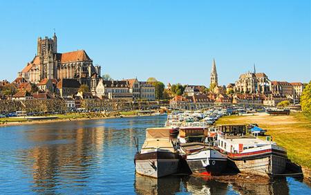 Ville d'Auxerre en Bourgogne