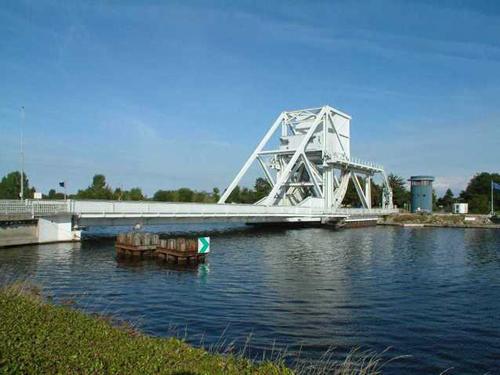 Pont Pegasus à Caen en Normandie
