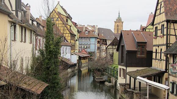 Vue la ville de Colmar