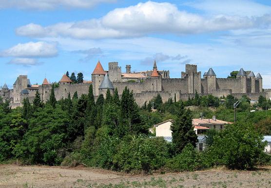 Vue de Carcassonne dans le Languedoc-Roussillon