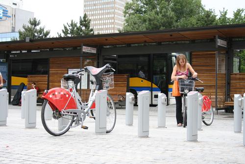 Station de vélos à Lyon