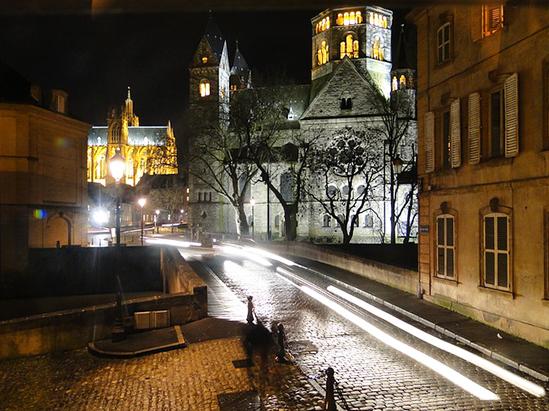 Vue de nuit à Metz