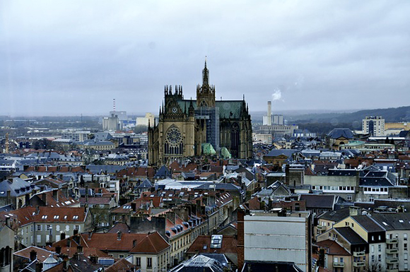 Vue d'ensemble de la ville de Metz