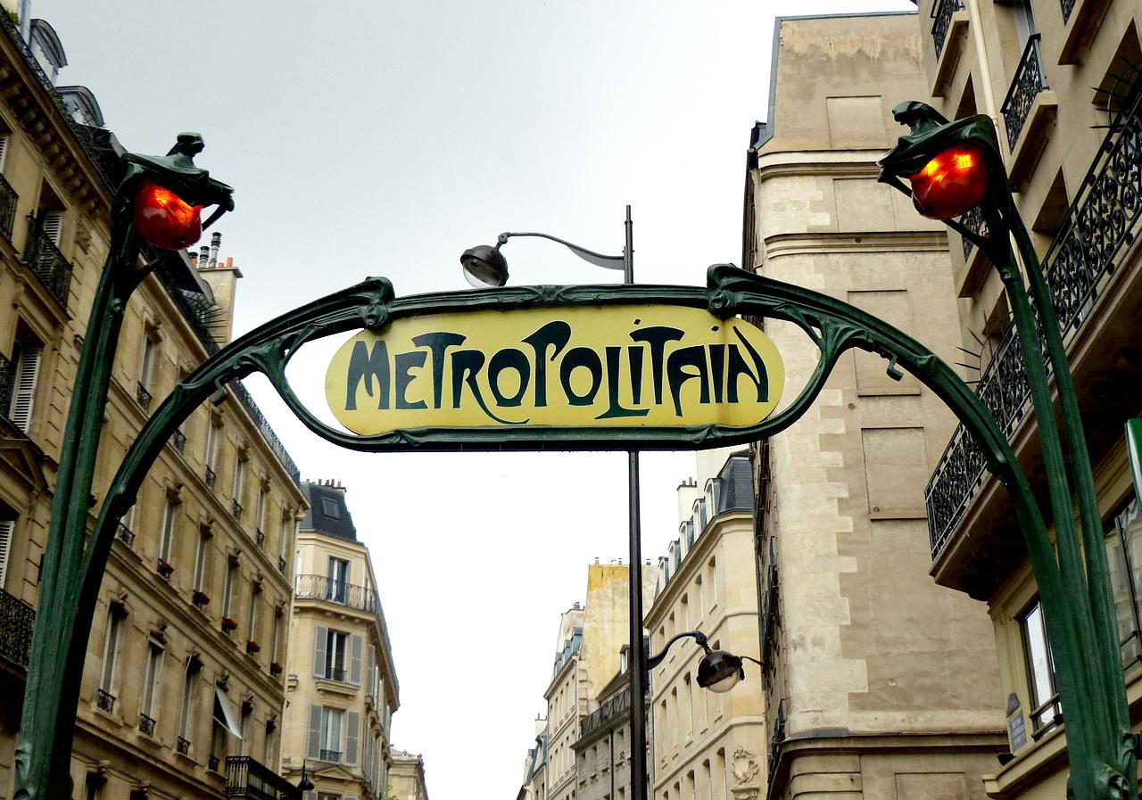 Entrée du métro à Paris